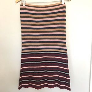 Anthropologie knit pencil style skirt striped